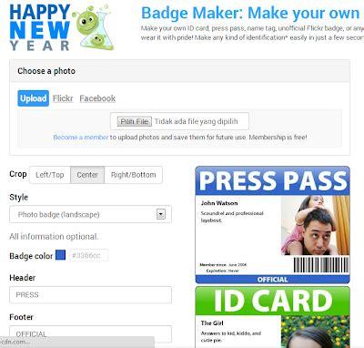 cara membuat id card sendiri cara membuat badge kartu nama dan id card online hariez