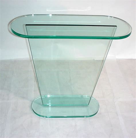 slim accent table glass l table