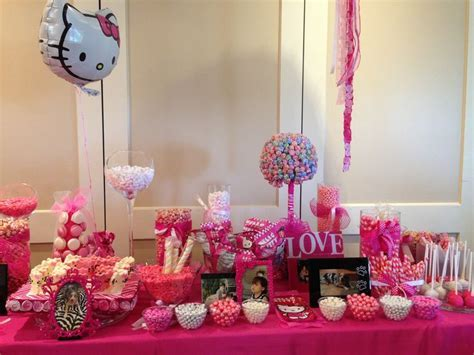 Hello kitty bridal shower candy bar   Showering the bride