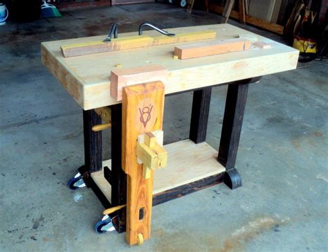 small woodworking bench short block v8 a small beginner s bench with attitude
