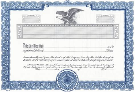 stock certificate new calendar template site