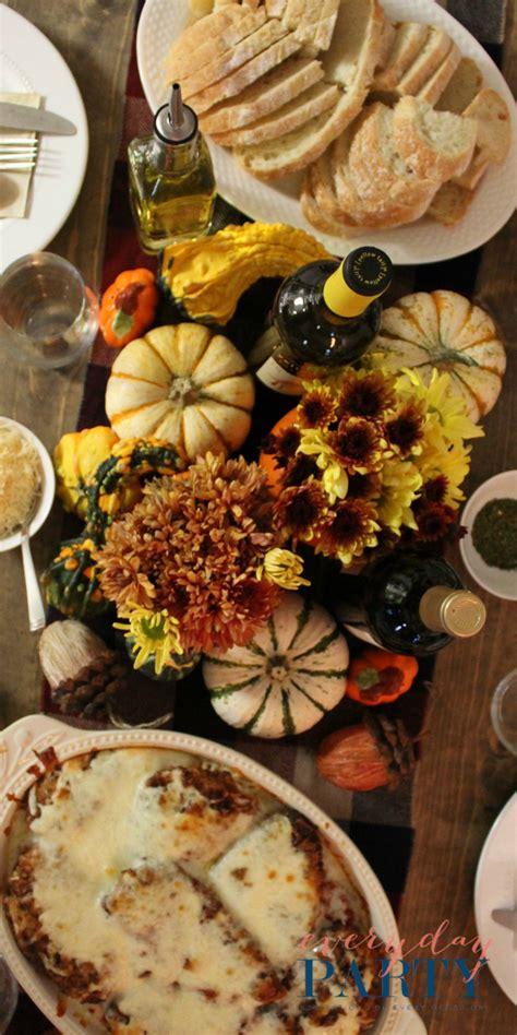 fall dinner fall dinner everyday magazine