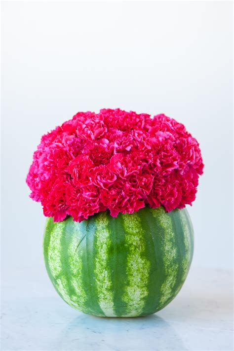 Watermelon Vase by Diy Watermelon Flower Centerpiece The Sweetest Occasion