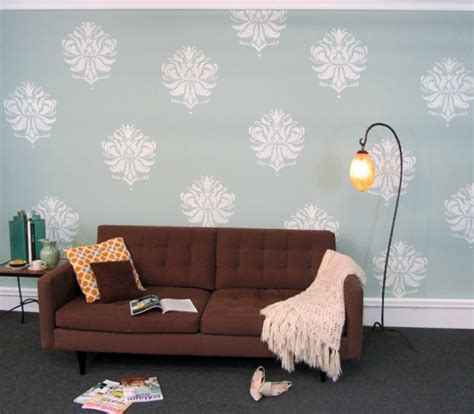 home dzine home decor 4 easy ways to decorate with wallpaper stencils an easy way to decorate a home home garden