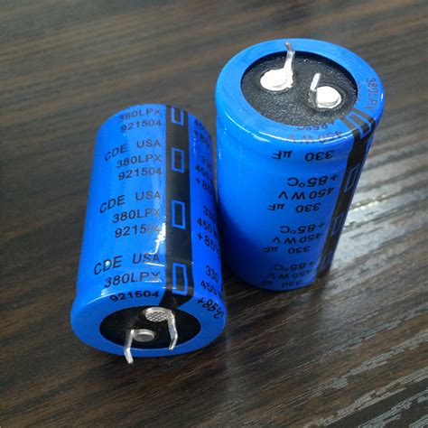 selecting and applying aluminum electrolytic capacitors for inverter applications 2pcs 330uf 450v cde lpx series 30x50mm 450v330uf snap in psu aluminum electrolytic capacitor in