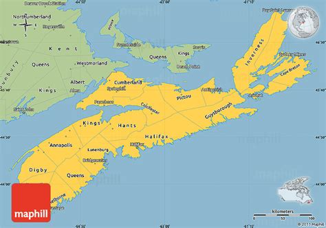 where is scotia in canada on the map savanna style simple map of scotia