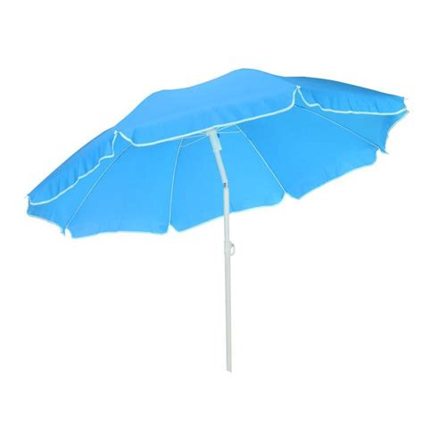 Parasol Inclinable by Parasol De Plage Inclinable Traditionnel Bleu Parasol
