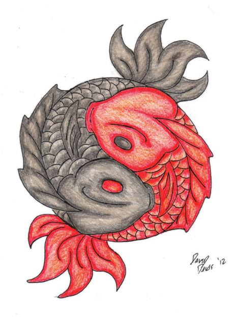 ying yang in koi fish style dejavu tattoo studio koi ying yang tattoo by ddavis1979 on deviantart