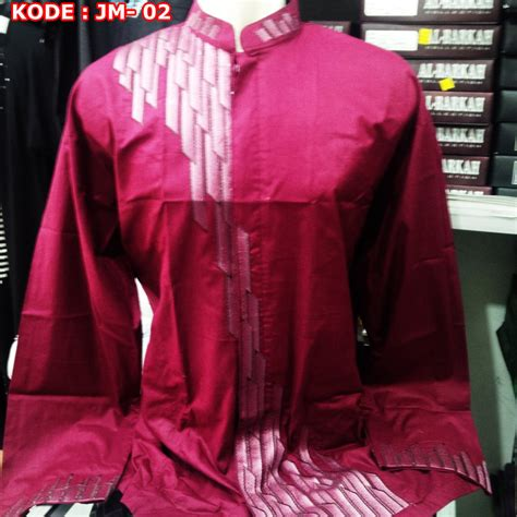 Baju Koko Merah L I Baju Koko Karakter I Baju Koko Anak baju muslim pria ukuran jumbo big size 2l 3l dan 4l busanamuslimpria
