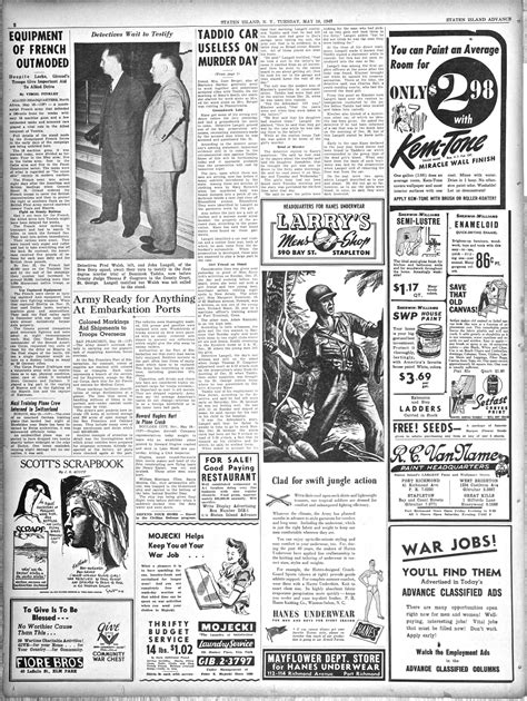 sherwin williams paint store page avenue staten island ny advance historic page from may 18 1943 paint store