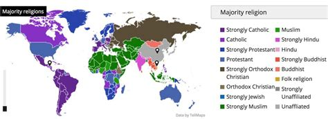 See Inside World Religion the religions of the world in one map