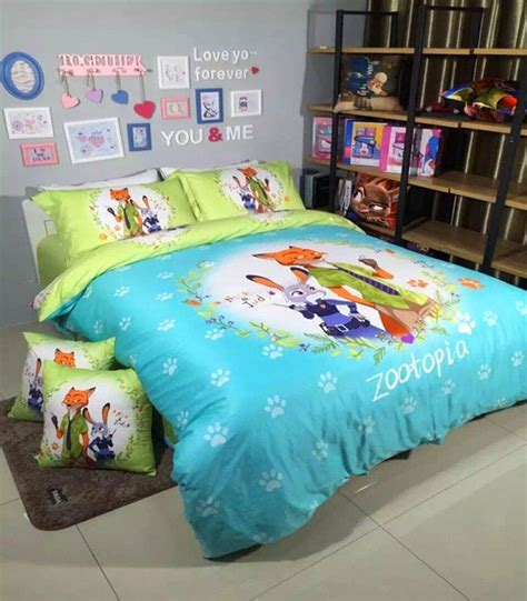 zootopia bedding nick and judy good partner zootopia green bedding sets