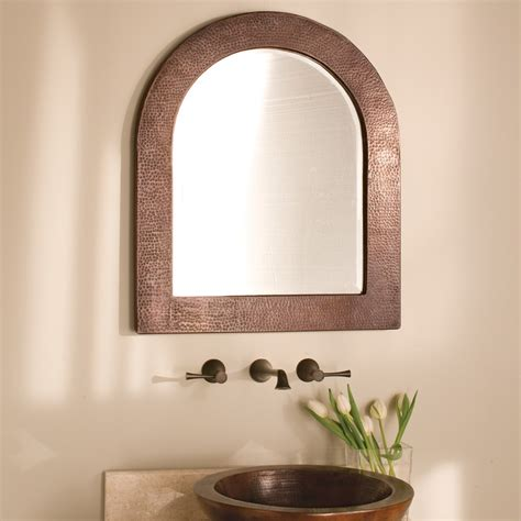 arched mirrors bathroom sedona arched copper framed wall mirror native trails