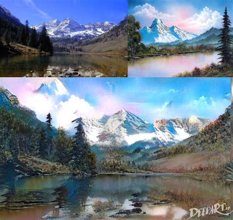 bob ross painting sky bob ross and machine learning twoinchbrush