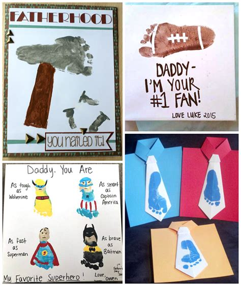 s day footprint gift ideas from the crafty