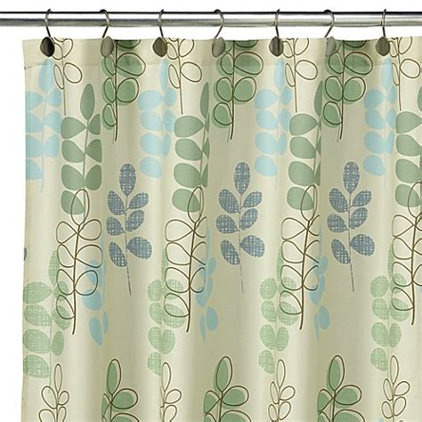 botanical shower curtain loft style 174 botanical leaf fabric shower curtain 100