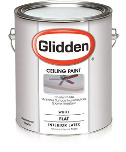 How Much Ceiling Paint Do I Need by Glidden 174 Flat Ceiling Paint Minimizes Drips And Paint Splatter