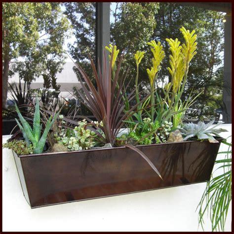 bronze window boxes galvanized window boxes rubbed bronze finish