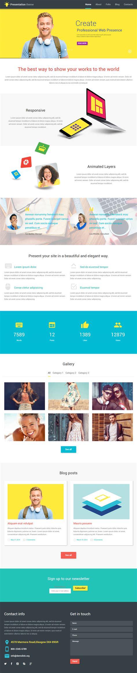 wordpress themes presentation best wordpress web design theme 2016 responsive miracle