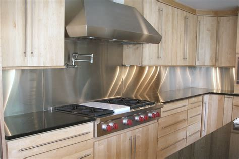 stainless steel backsplash with modern style with tiles