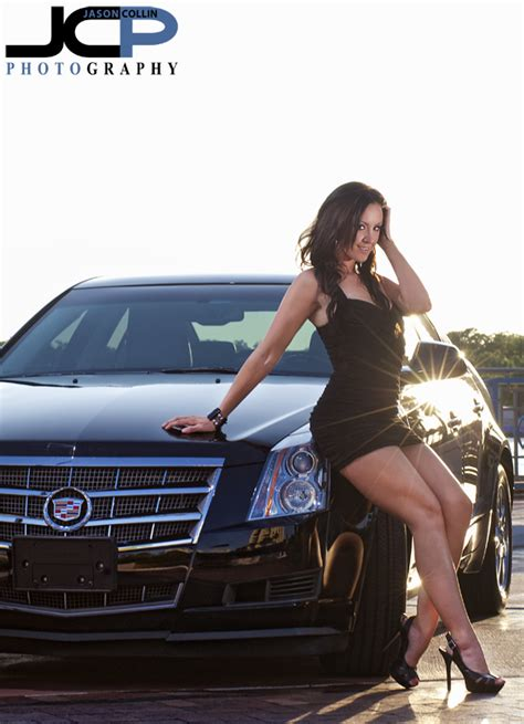 dark haired woman in cadilac commercial cadillac cts with model ta commercial car photography