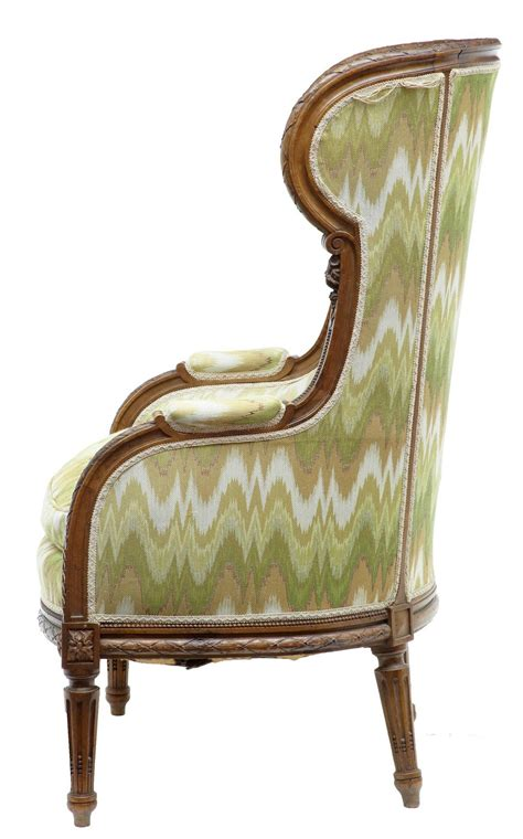 carved armchair 19th century french carved walnut wingback armchair for