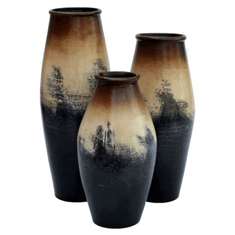 Set Of 3 Vases by Salado Vases Set Of 3
