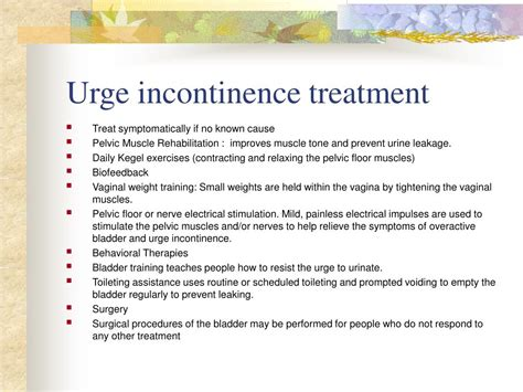 incontinence medication ppt urinary incontinence powerpoint presentation id 782255