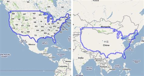 map of usa vs china mapfrappe the united states