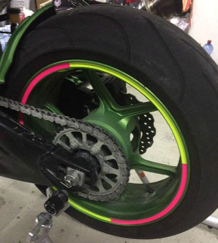 Felgenrandaufkleber Motorrad Neon Gelb by Felgenrandaufkleber Motorrad 17 Quot 21 Quot Race Neon Www