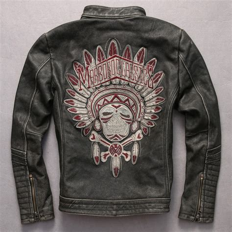 Motorrad Lederjacke Indian by Online Kaufen Gro 223 Handel Indische Lederjacke Aus China