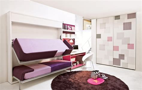 beds that fold into wall transformable space saving kids rooms architecture design