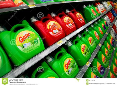 Laundry Detergent Shelf by Laundry Detergent Editorial Photo Image 21210076
