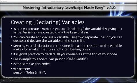 javascript tutorial easy javascript variables tutorial teachucomp inc