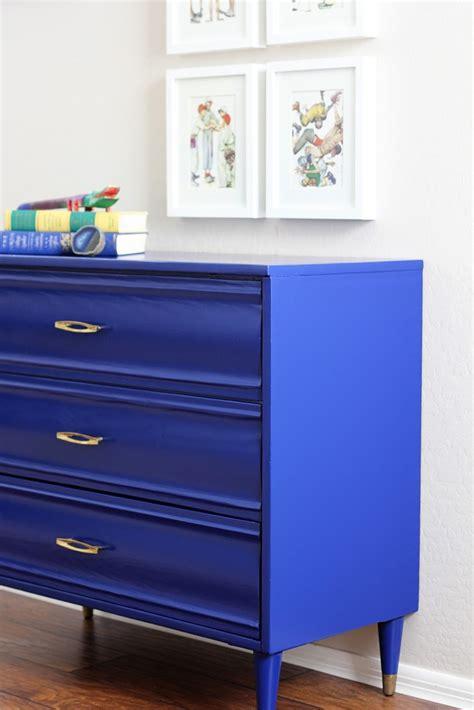 cobalt blue furniture craft room