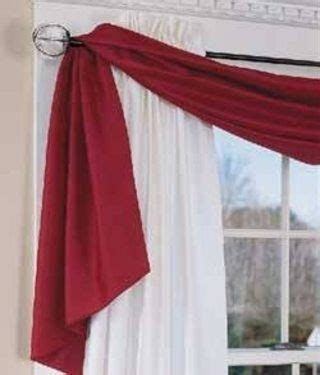 how to hang a drapery scarf 1000 ideas about window scarf on pinterest scarf