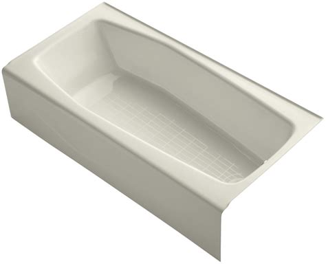 three wall alcove bathtub kohler k 716 47 almond villager collection 60 quot three wall