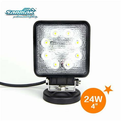 24w square led work light 24 volt truck lights view 24