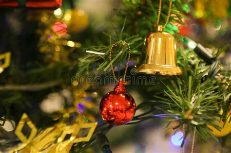 christmas tree preparation decorations or tree light prepare for celebrate day abstract bokeh light