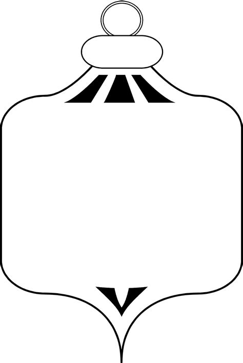 christmas ornaments clip art black and white new