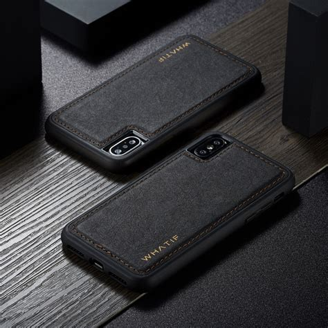 function magnetic leather removable cover for iphone xs max xr x 8 plus 7 6 ebay