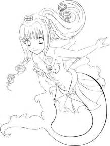 anime mermaid free coloring pages art coloring pages