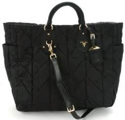 prada bn1542 tessuto quilted tote bag black all