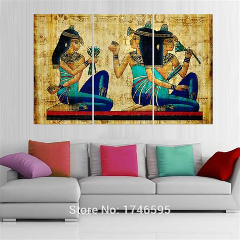 painting for home decor big size modern living room home wall art decor abstract egyptian hieroglyphics papyrus wall art