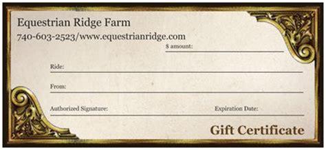 Trail Riding Horseback Gift Certificate Template