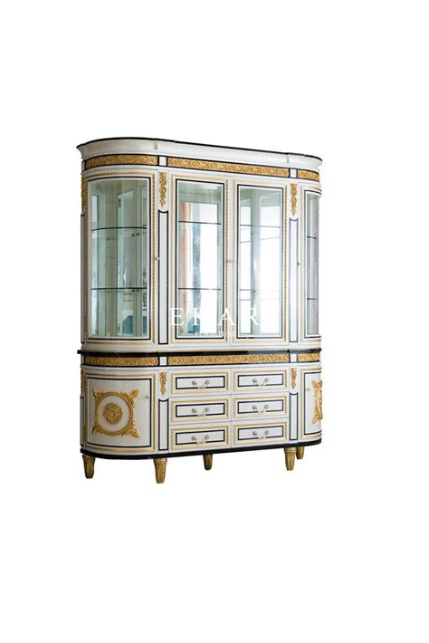 large glass  home dining room howcase cabinet display