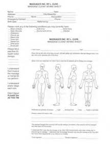 massage client intake forms