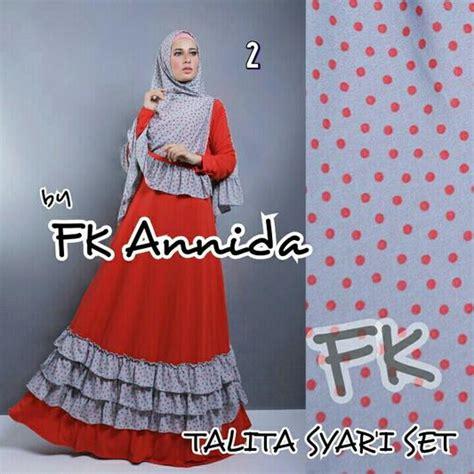 Talita Syari By Fk Annida Gamis Khimar syari fashion butiq laman 6