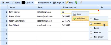 Spreadsheet Validation by Dhtmlxspreadsheet 2 0 Released With New Features And