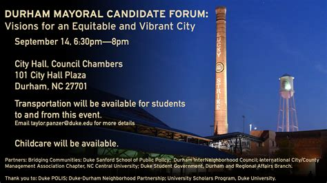 Durham Global Mba by Durham Mayoral Candidate Forum Visions For An Equitable